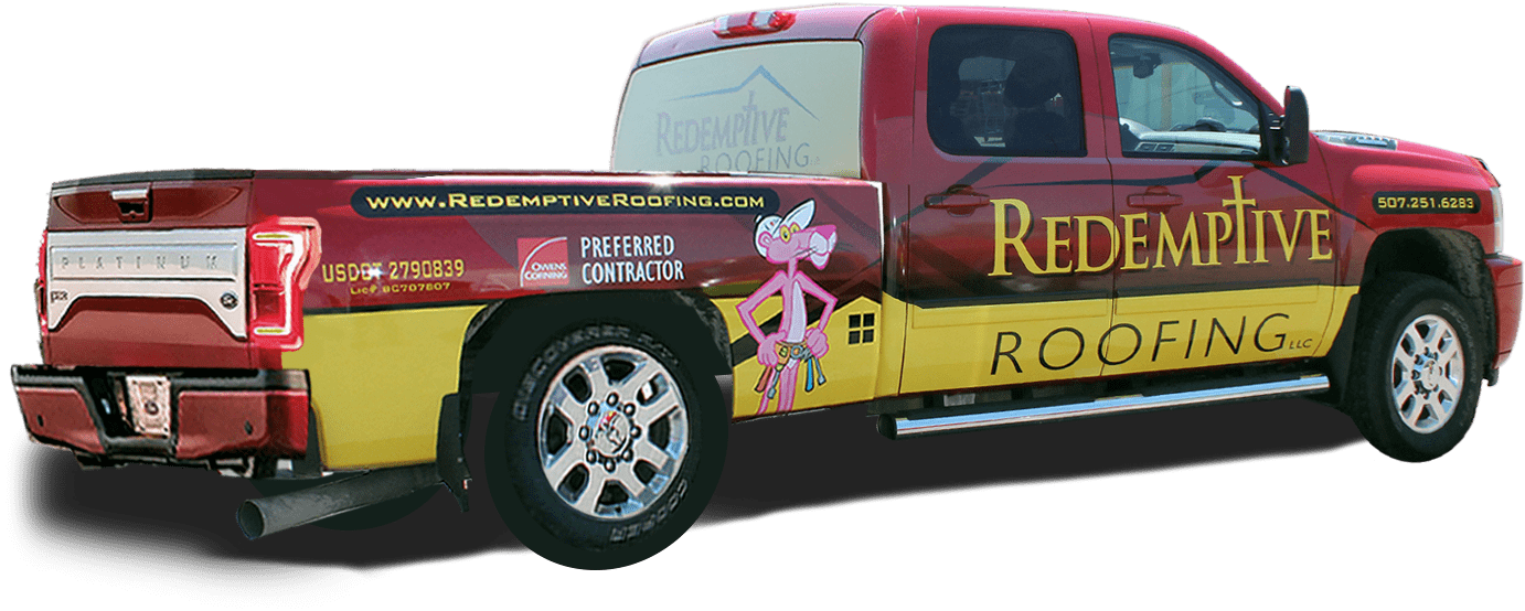 Redemptive Roofing truck